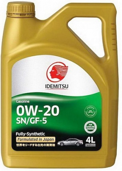 Масло Idemitsu 0W20 Fully-Synthetic, 4литра