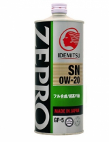 Масло моторное Idemitsu 0W20 Zepro Eco Medalist Synthetic, 1литр